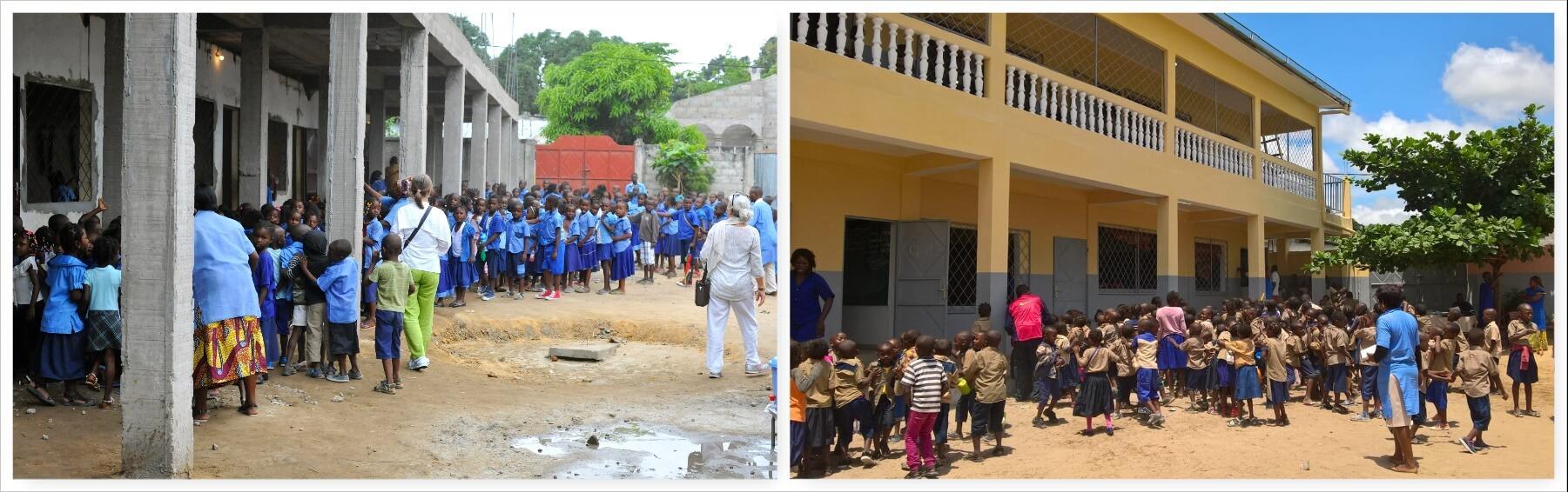 UNA TARGA DEL NOSTRO FONDATORE PADRE ENZO NELLA MISSIONE IN CONGO BRAZZAVILLE